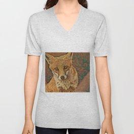 Foxy Face Unisex V-Neck