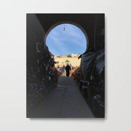 Shopping in Meknes Metal Print