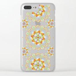Jaipur Blossom Mandala Clear iPhone Case
