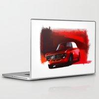 gta Laptop & iPad Skins featuring Alfa Romeo Giulia Sprint 1600 GTA by Vadim Artemyev