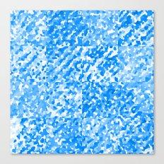 Blue Delight (Squares) Canvas Print