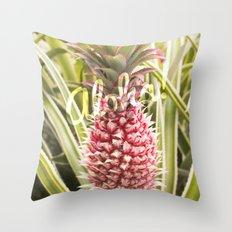 Pink Pineapple Aloha! Throw Pillow