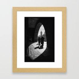 Into the light. (Melbourne, 2013) Framed Art Print