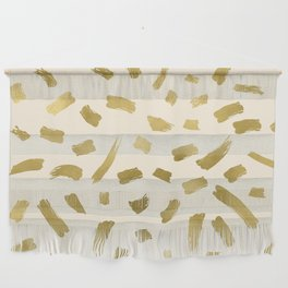 Gold Strokes Wall Hanging