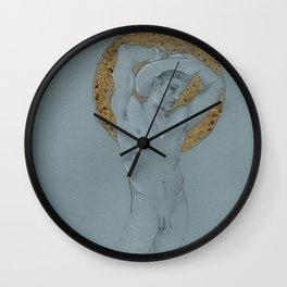 male nude halo Wall Clock