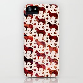Cavalier King Charles pattern iPhone Case