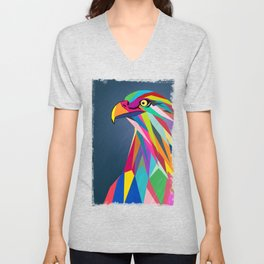 Eagle poly art  Unisex V-Neck