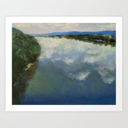Ohio River Painting Art Print