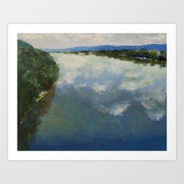 Ohio River Painting Art Print