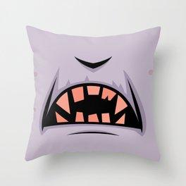 Creepy Count Dracula Vampire Mouth Throw Pillow