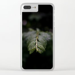 Leaves after Summer rain Clear iPhone Case