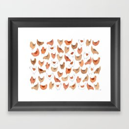 Chicken Pattern Framed Art Print