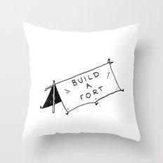 Build a fort Throw Pillow