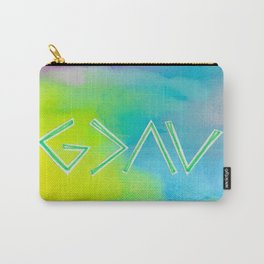 God Is Greater - GREEN Carry-All Pouch