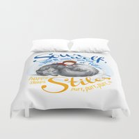 sterek Duvet Covers featuring Sterek Sleepy Wolf & Stiles I by siny