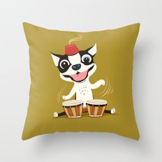 Boogie on Bongos Throw Pillow