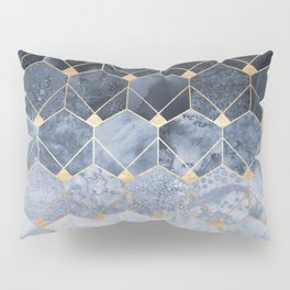 Blue Hexagons And Diamonds Pillow Sham