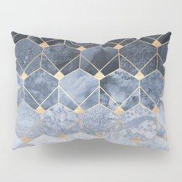 Blue Hexagons And Diamonds Kissenbezug