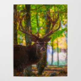 The deer stag by Brian Vegas Poster