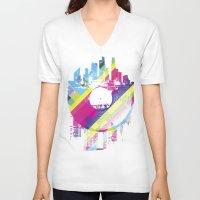 deadmau5 V-neck T-shirts featuring Urban Vinyl V2 by Sitchko Igor