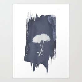 wildflower cyanotype Art Print