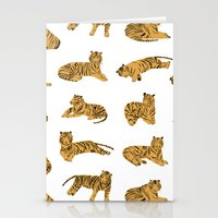 tigers Stationery Cards featuring Tigers by leah reena goren