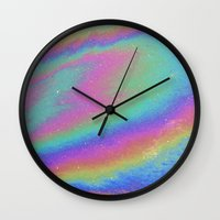 holographic Wall Clocks featuring Holographic by Nestor2