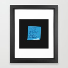 Merder's Post-it Wedding (Grey's Anatomy) Framed Art Print
