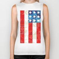 america Biker Tanks featuring America by Fimbis