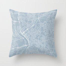 Springfield Map, USA - Slate Throw Pillow