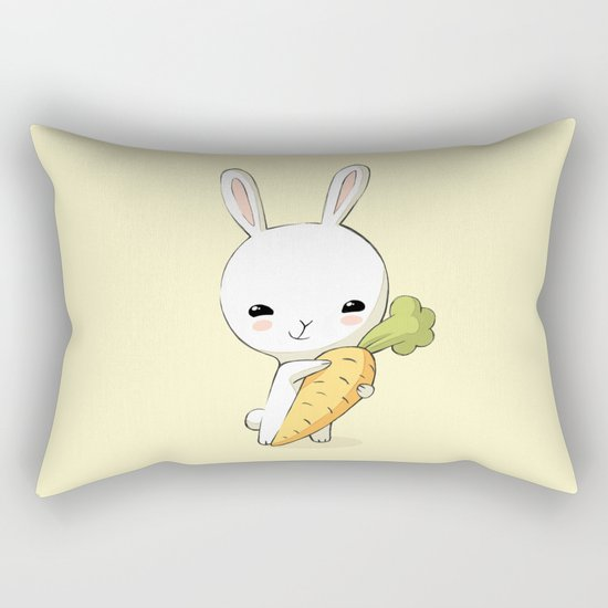 Bunny Carrot 2 Rectangular Pillow