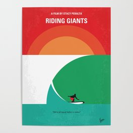 No915 My Riding Giants minimal movie poster Poster