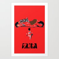 akira Art Prints featuring Akira by Pocketmoon designs