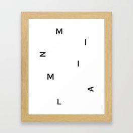 Minimal (White) Framed Art Print