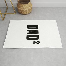 Dad dad father daddy kids 2 math gift Rug