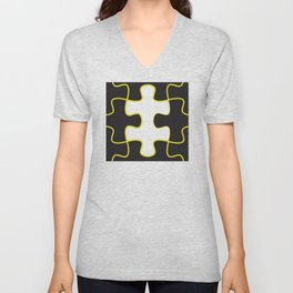 Finding the missing piece Unisex V-Neck