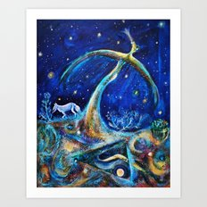 The Fifth Day of Creation Art Print