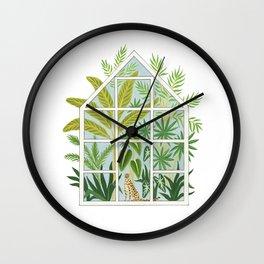 jungle greenhouse Wall Clock