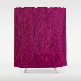 satiny flower in fushia Shower Curtain