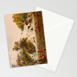 Junction Of The Kundanama Illustrations Of Guyana South America Natural Scenes Hand Drawn Stationery Cards