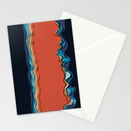 Fire goddess kisses the ocean Stationery Cards