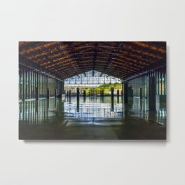 Main St Station Waiting Area Metal Print