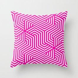 Hollywood cerise - fuchsia - Minimal Vector Seamless Pattern Throw Pillow