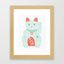 Tattoo Kitty Framed Art Print