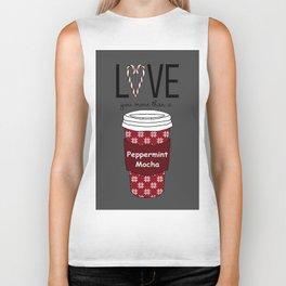 Love You More Than a Peppermint Mocha Biker Tank