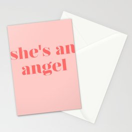 she's an angel Stationery Cards