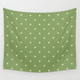 Green and yellow pattern with rhombs Wall Tapestry