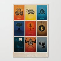 movies Canvas Prints featuring Spielberg Movies by Alain Bossuyt