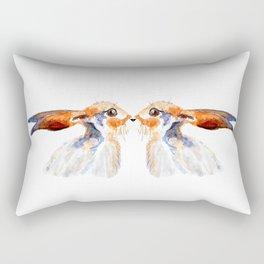 Kissing hares Rectangular Pillow
