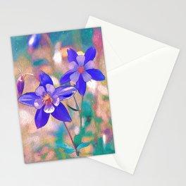 Colorado Columbine Flower Stationery Cards
